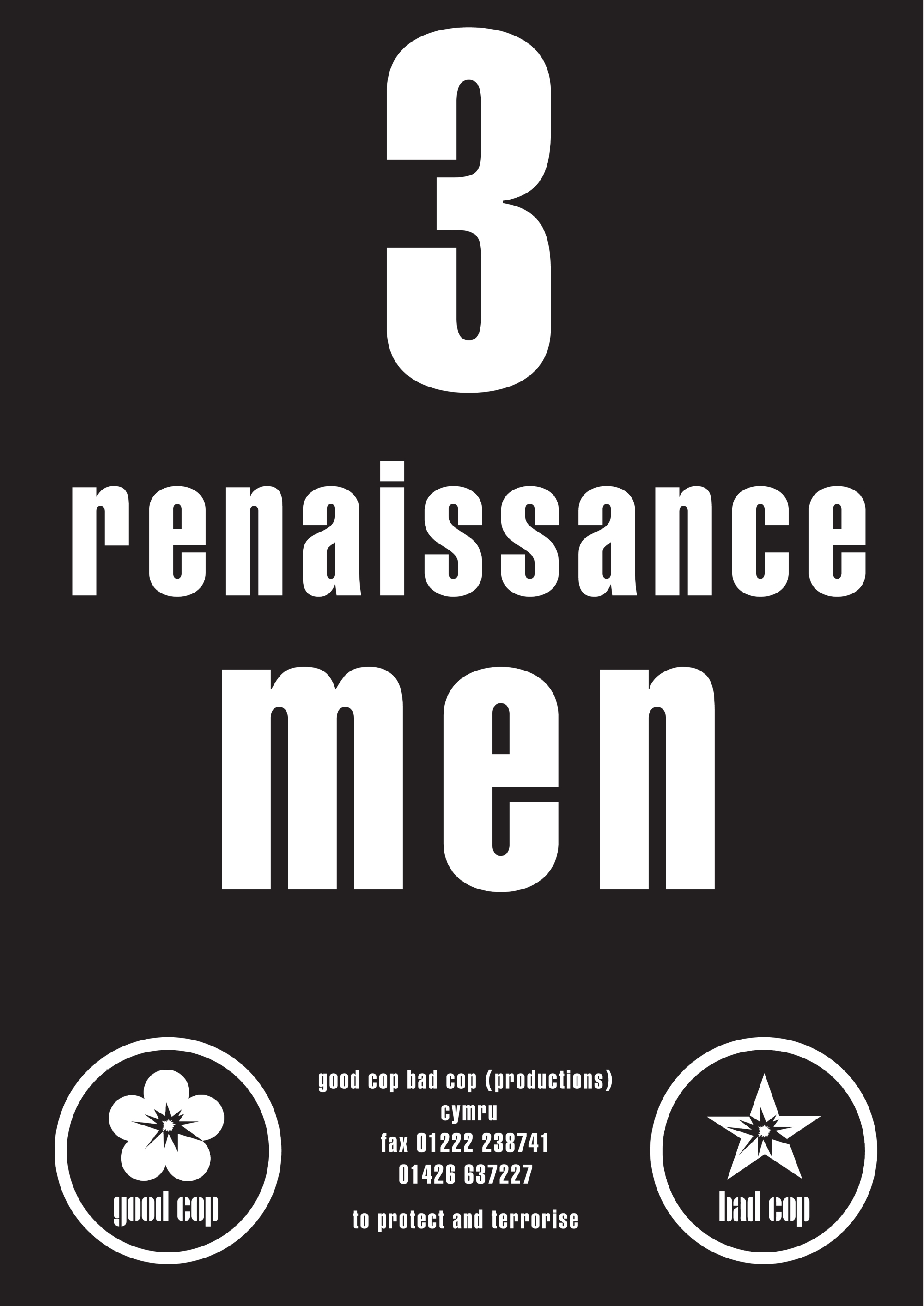 3 renaissance men flyer copy
