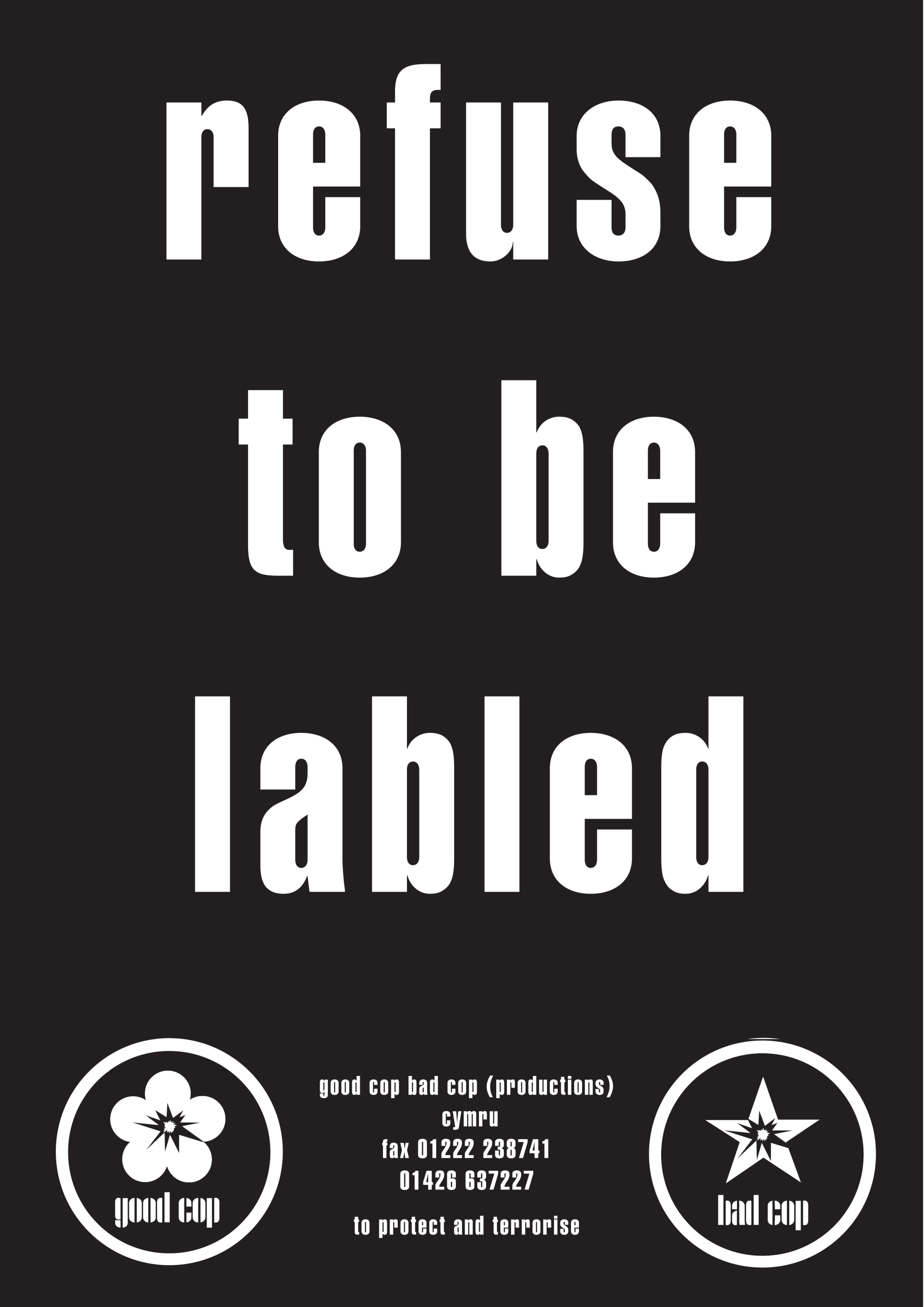 refuse to be labled flyer copy